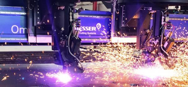 Nuovo impianto taglio al plasma Messer Omnimat