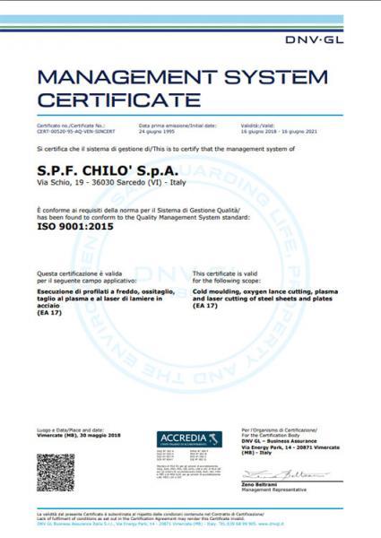 UNI EN ISO 90012015